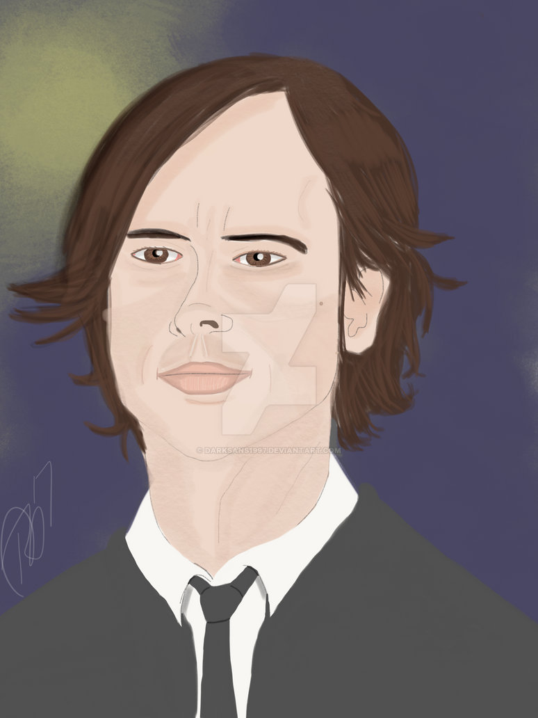 Spencer Reid (color) by RienneCheshire