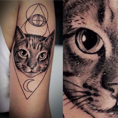 Cat Tattoo by CiroCervone