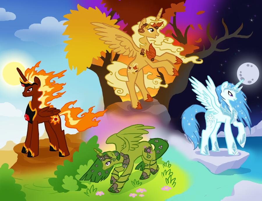 Seasonal Alicorns by Bedupolker