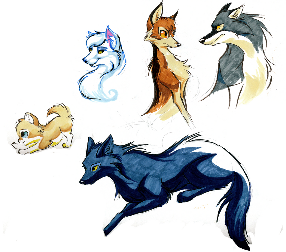 Deviantart Character Design : Wolf character designs by bedupolker on deviantart