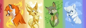 Foxes foxes foxes by Bedupolker