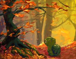 Bulbasaur's Fall by Bedupolker
