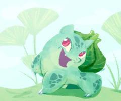 Happy Bulbasaur by Bedupolker