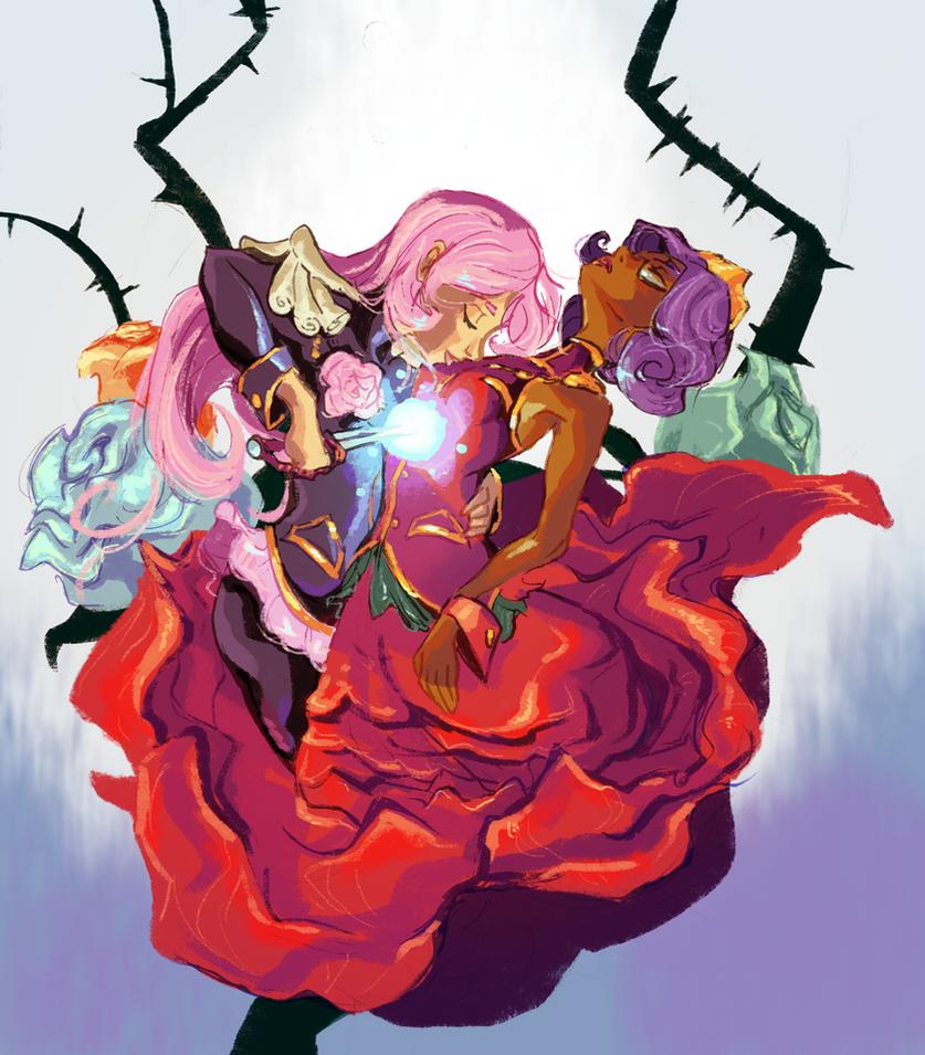 Rose Bride by Bedupolker