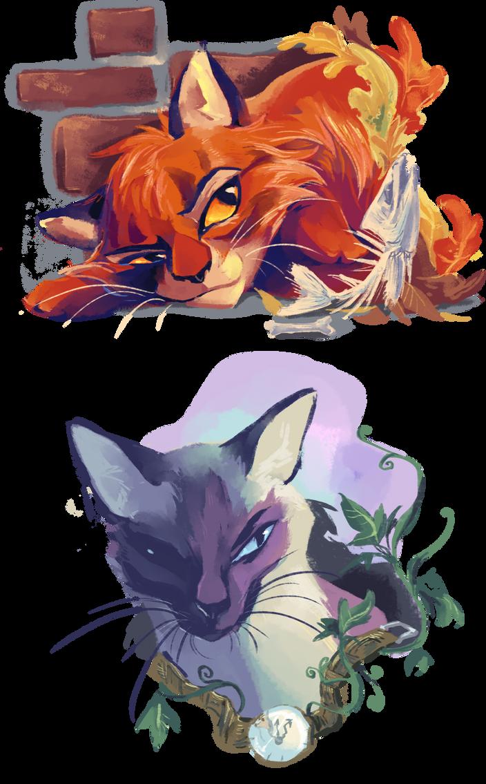 Cat Portraits by Bedupolker