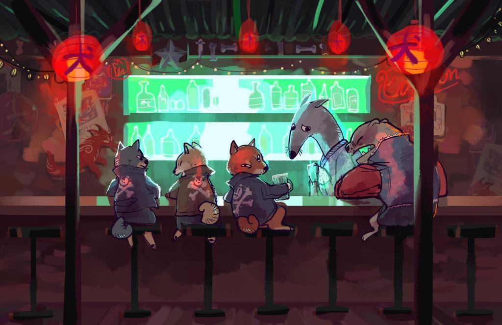 Doggy Dive Bar by Bedupolker