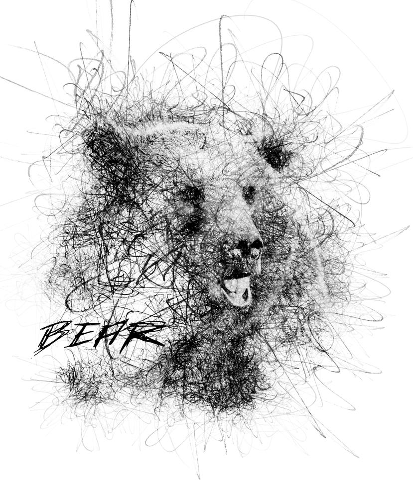 Drawing Scribble Method : Bear scribble drawing by pinxeladas on deviantart
