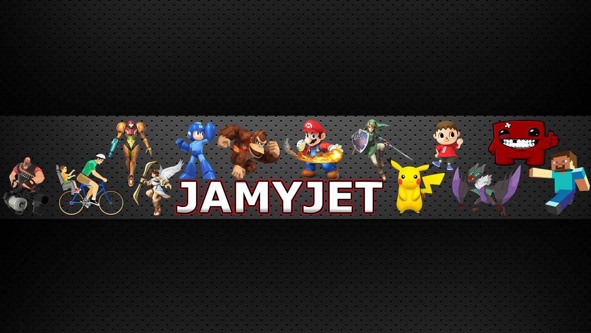 Youtube channel art banner jamyjet by jammyjet on deviantart