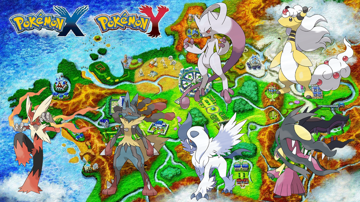 POKEMON X AND Y MEGA EVOLUTIONS WALLPAPER GEN 6 HD By Jammyjet