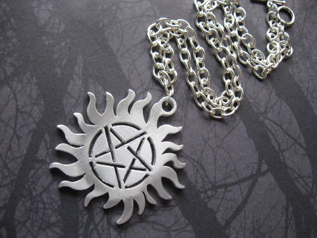 Sun Pentagram Tattoo Necklace by SpellsNSpooks