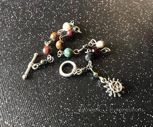 Supernatural Sun Pentagram Stone Bracelet by SpellsNSpooks