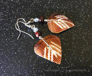 Moana Wire-Wrapped Shell Earrings OOAK by SpellsNSpooks