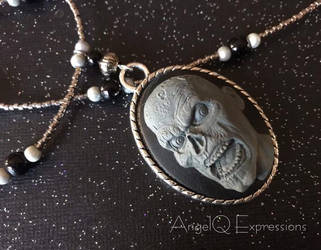 Night of the Zombie Cameo Necklace by SpellsNSpooks
