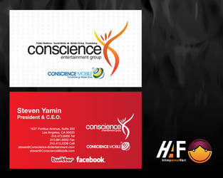 Conscience Business Card by hilzombie