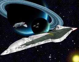 Nexus Destroyer Class Starship by capriceklasik