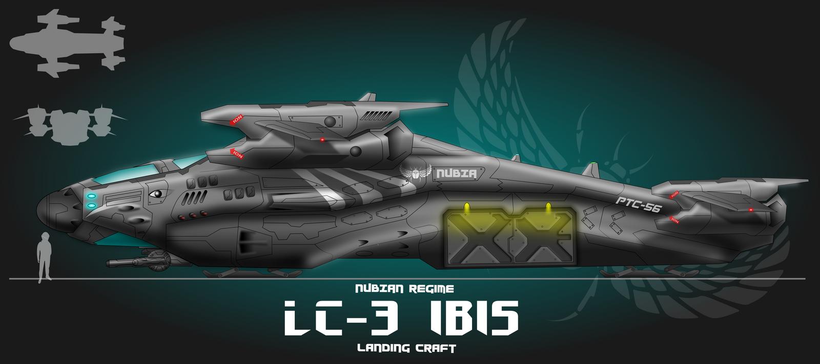 Nubian Ibis Landing Craft Gunship By Capriceklasik On