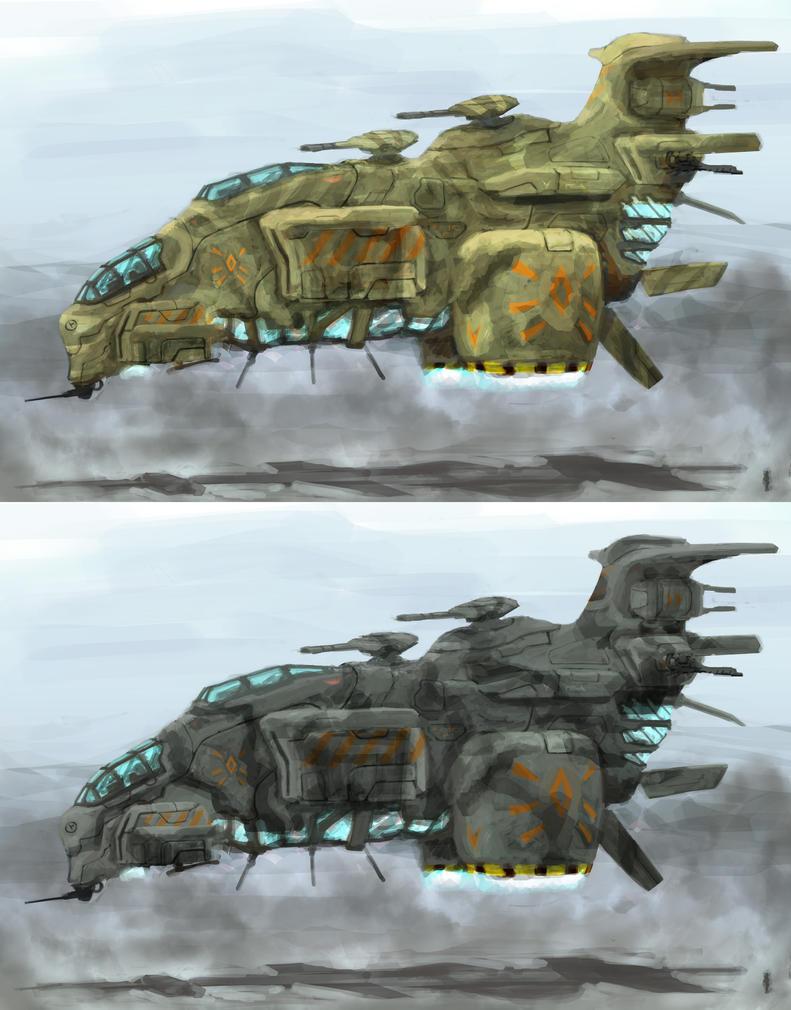 heavy guerilla gunship by krassnoludek