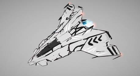 first tiltbrush vr sketch / concept ship