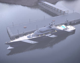 megayacht 3d model by krassnoludek