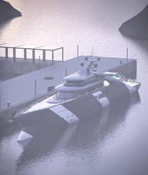 megayacht 3d model 02 by krassnoludek