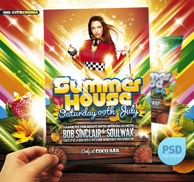 Summer Spring Party Flyer Poster by Webstroy80 on DeviantArt – Spring Party Flyer