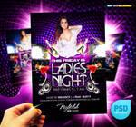 PSD Night Club Party Flyer Ladies Night