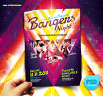 PSD Night Club Party Flyer Bangers