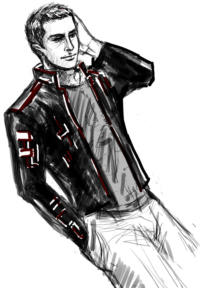Shepard's New Look (sketch + drabble) by asreal01