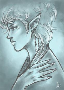 Elven Lady - Sketch