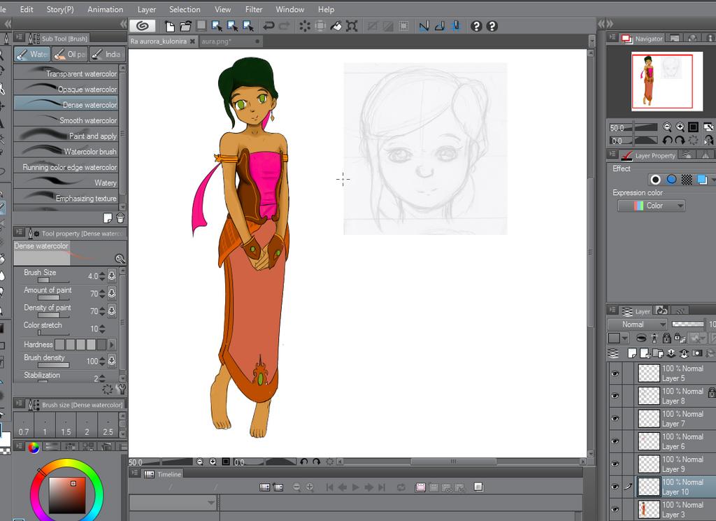 My progrest for next character by Masbanart31