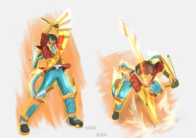 Concept propotion. The color power by Masbanart31