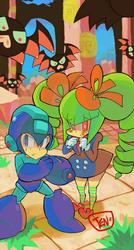 Please protect me Rockman! by Tentakustar