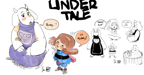 UnderTale stuff by Tentakustar