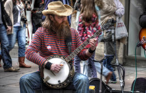 Musician at Bath by lauchapos