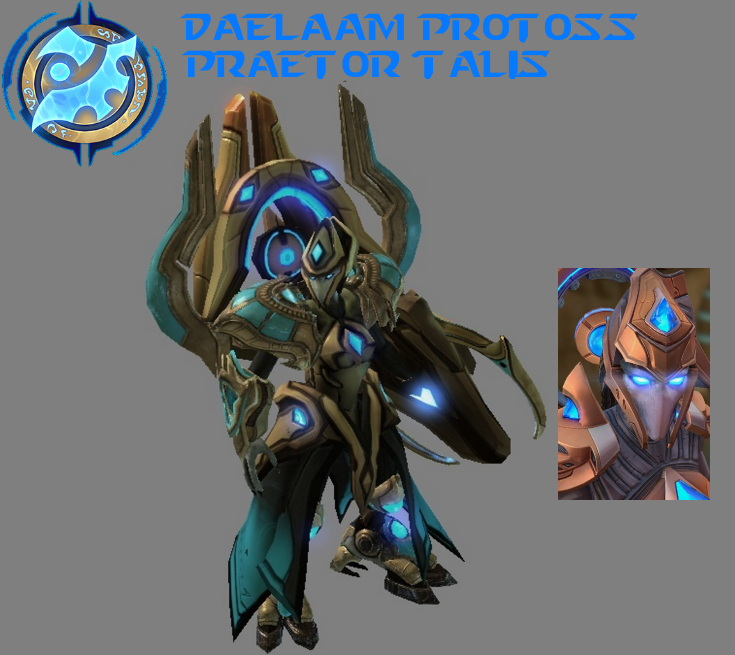 StarCraft 2 - Daelaam Protoss Praetor Talis (V2) by HammerTheTank