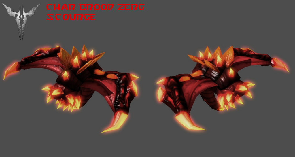 StarCraft 2 - Char Brood Zerg Scourge by HammerTheTank