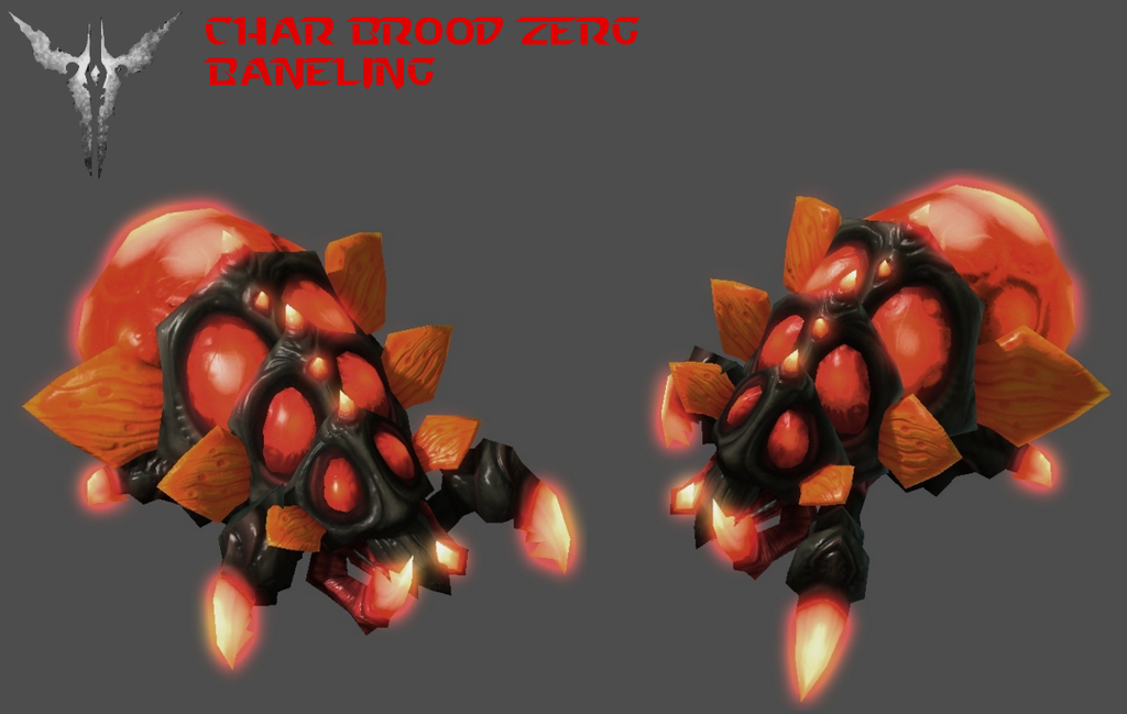 StarCraft 2 - Char Brood Zerg Baneling by HammerTheTank