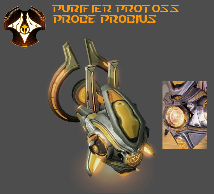 StarCraft 2 - Purifier Protoss Probe Probius by HammerTheTank