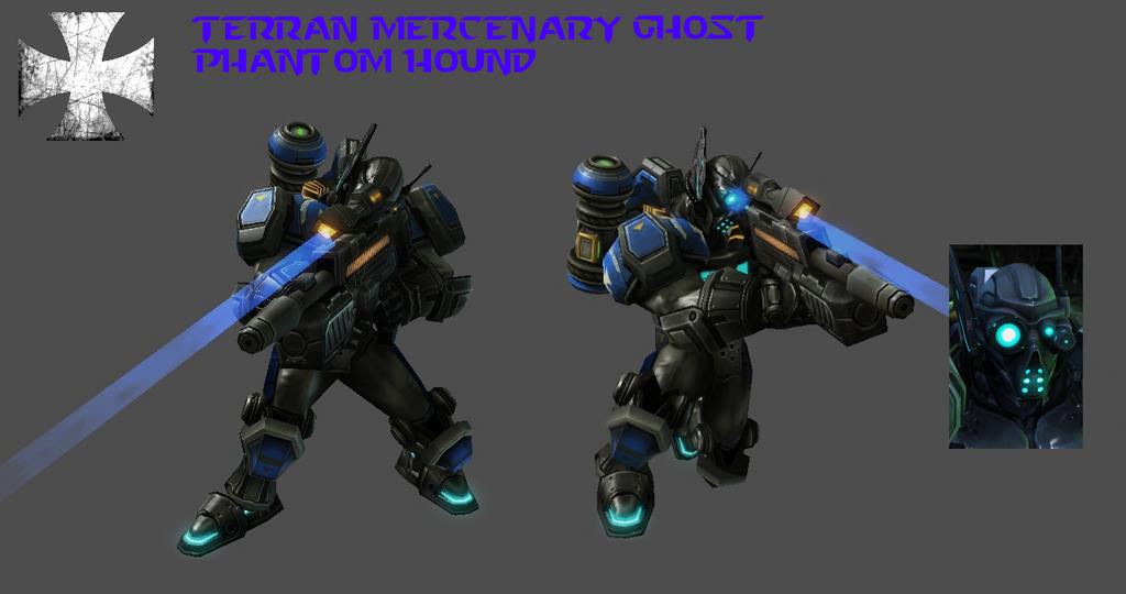 StarCraft 2 - Phantom Hound Ghost Mercenary by HammerTheTank