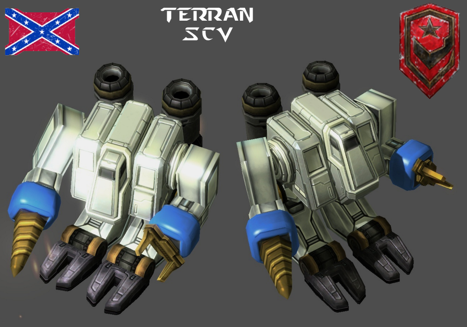 StarCraft 1 - Terran SCV by HammerTheTank