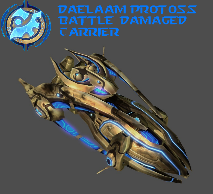StarCraft 2 - Protoss Battle Damaged Carrier by HammerTheTank