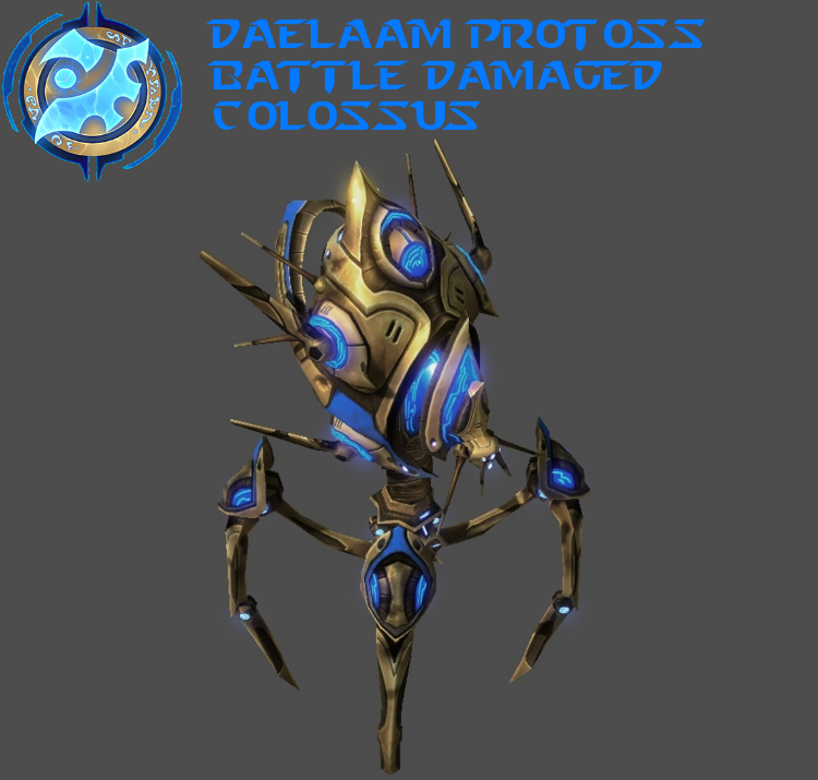 StarCraft 2 - Protoss Battle Damaged Colossus by HammerTheTank