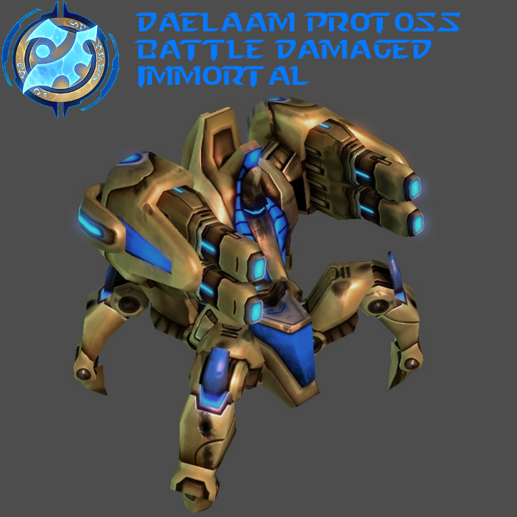 StarCraft 2 - Protoss Battle Damaged Immortal by HammerTheTank