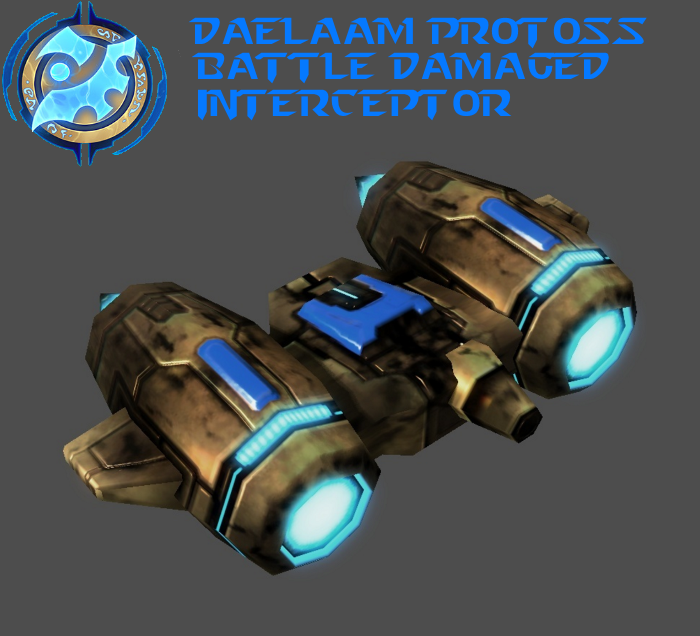 StarCraft 2 - Protoss Battle Damaged Interceptor by HammerTheTank