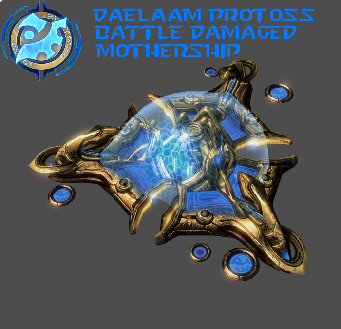 StarCraft 2 - Protoss Battle Damaged Mothership by HammerTheTank