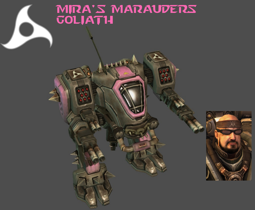 StarCraft 2 - Mira's Marauders Goliath by HammerTheTank