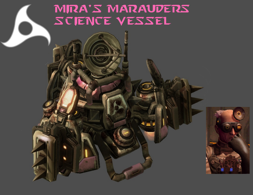 StarCraft 2 - Mira's Marauders Science Vessel by HammerTheTank