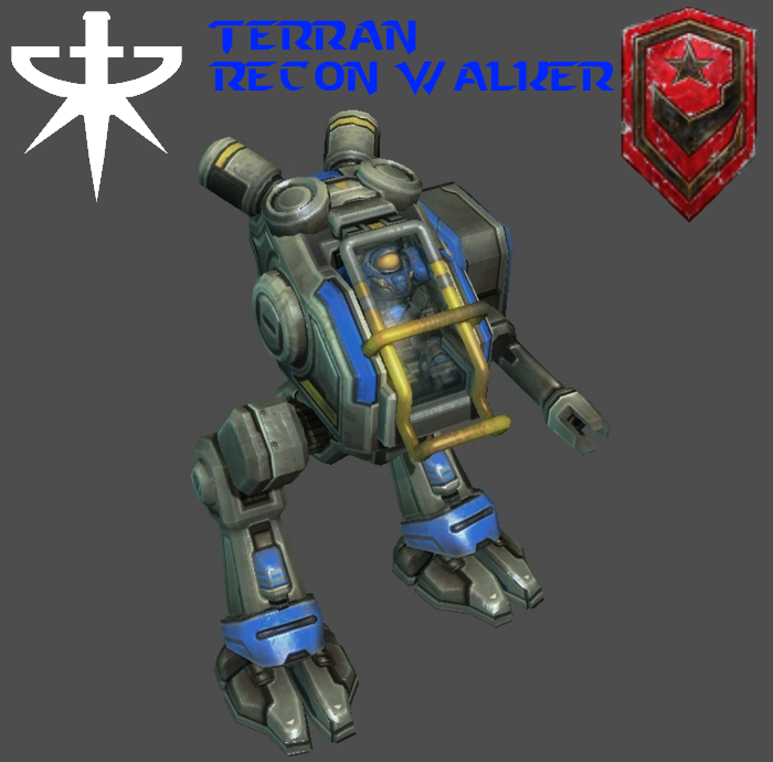 StarCraft 2 - Terran Recon Walker by HammerTheTank