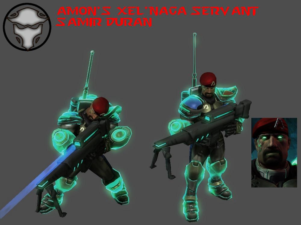 StarCraft 1 - Samir Duran (Xel'naga-Human Form) by HammerTheTank