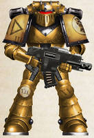 WH30K - Imperial Fists Tactical Marine (Mk II)